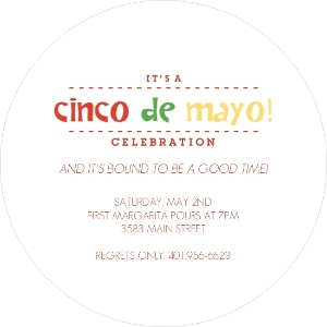 Margarita party glass cinco de mayo invitation 4347 2 big circle