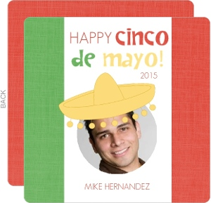 Mexican Flag Cinco De Mayo Card