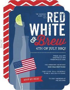 Red White Brew Celebration Fourth Of July Invite