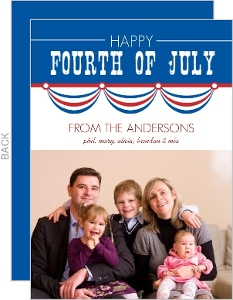 American Flag Banner Fourth Of July Greeting