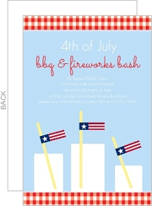 Festive Flag Drinks Fourth Of July Party Invitations
