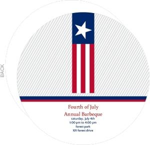 Patriotic Flag Stripe Fourth Of July Party Invitation