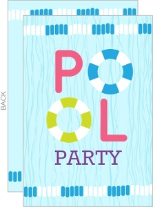 Floaties Pool Party Invitation