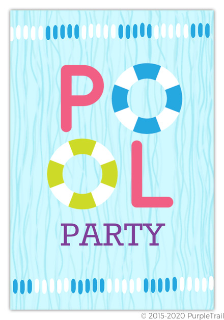 Floaties Pool Party Invitation Pool Party Invitations