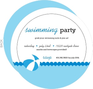 Blue Waves Pool Party Invitation