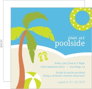 Poolside Toys Pool Party Invitation