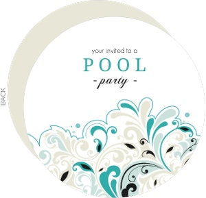 Turquoise black pool party invitation 4423 0 big circle