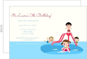 Splish Splash Pool Party Invite