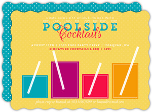 Signature Drinks Pool Party Invitation