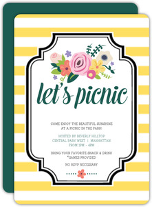 Bright Florals Picnic Summer Invitation