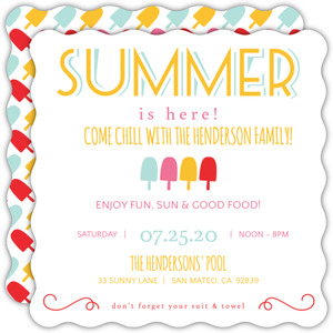 Festive Popsicles Summer Party Invite