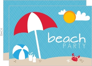 Sandy Beach Summer Party Invitation