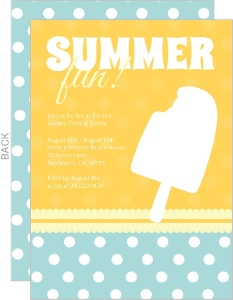 Orange And Turquoise Polka Dot Summer Party Invite
