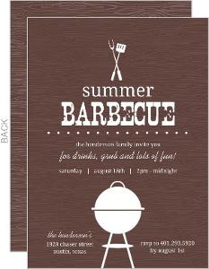 Brown Western Bbq Summer Party Invitation
