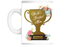 Worlds Greatest Mom Trophy Mug