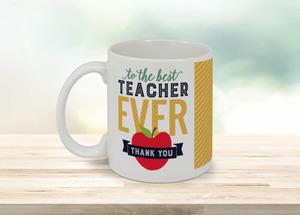 Modern Typography Teacher Coffee Mug