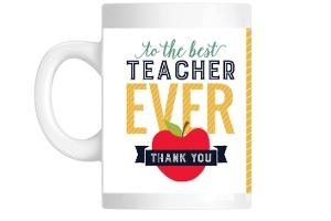 Modern Typography Teacher Mug
