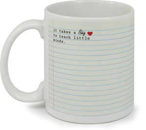 Big Heart To Teach Teacher Coffee Mug