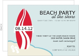 Surfs Up Summer Party Invitation