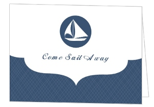 Come Sail Away Sailing Party Invite