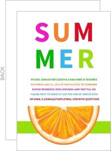 Fresh Orange Slice Summer Party Invitation