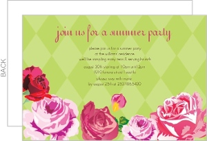 Green Harlequin Floral Summer Party
