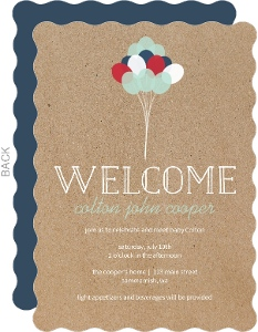 Simple Patriotic Balloons Sip and See Party Invitation