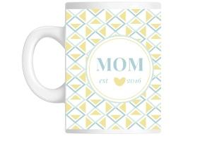 Whimsy Geo Pattern New Mom Mug