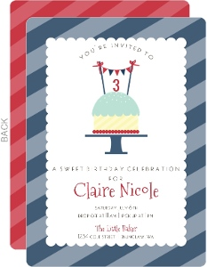 Patriotic Sweet Treat Kids Birthday Party Invitation