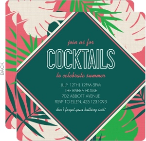 Tropical Palm Summer Party Invitation