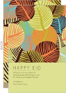 Fall Leaves Happy Eid Card