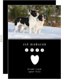 Black And Simple Photo Eid Card