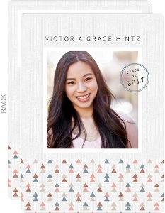Muted Triangle Pattern Graduation Invitation