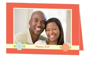 Floral And Bright Eid Greeting Card