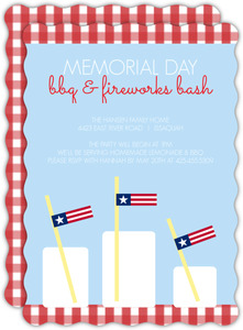 Patriotic Glasses Memorial Day Invitation