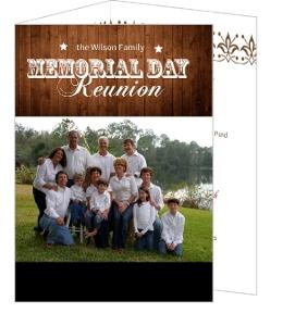 Rustic Memorial Day Family Reunion Invitation