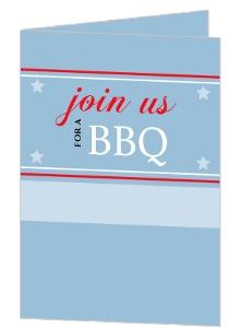 Patriotic Bbq Invite