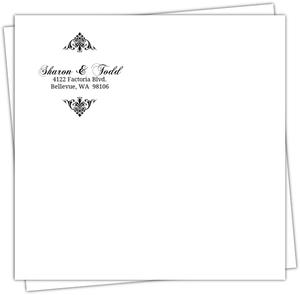 Black And White Elegant Monogram Envelope