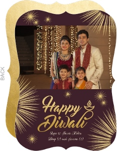 Beautiful Fireworks Festive Diwali Photo Card