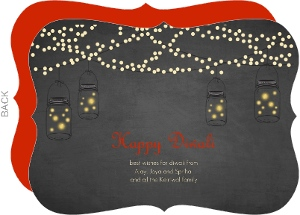 Earthen Lamps Diwali Greeting Card