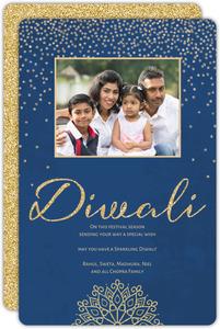 Shubh Deepavali Firework Bursts Diwali Card