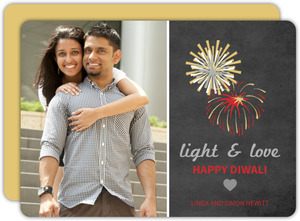 Joyful Fireworks Diwali Card