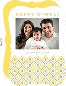 Festive Pattern Photo Diwali Card