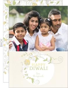 Falling Daisies Festive Diwali Card