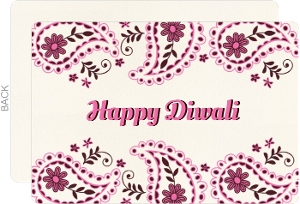 Pink Paisley Happy Diwali Greetings
