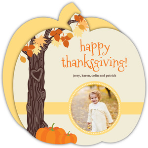 Autumn Tree Branch Thanksgiving Photo Card