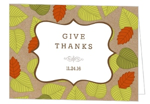 Leaf Pattern Thanksgiving Invitation