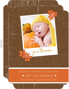 Picture Perfect Orange and Brown Thanksgiving Card