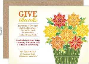 Thanksgiving Flowers Greeting Card