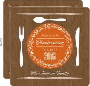 Thanksgiving Place Setting Invitation